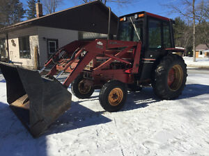 International diesel tractor, reduced must go