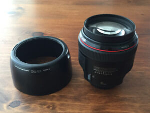 Canon 85mm F 1.2 II L Series lens for sale