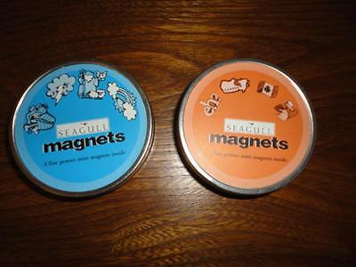 Seagull Pewter 8 Mini Magnets 2 Tin Sets Noahs Ark   Canada Made Nova Scotia