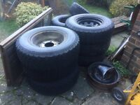 BF Goodrich All terrain AT x 4 + 1 spare Land Rover Defender / Discovery
