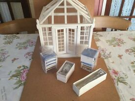Collectors Dolls House Conservatory /Sunlounge. 12th scale