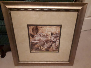 BEAUTIFULLY FRAMED AND DOUBLE MATTED LINDA THOMPSON PRINT