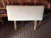 Cream Suede Single Bed Headboard