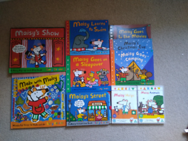 Maisy mouse 8 book and 2 DVD bundle