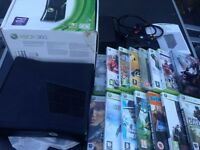 Xbox 360 Slim console, boxed with 15 games - bargain £95