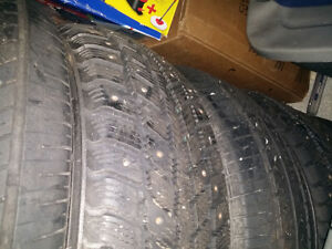 (SALE OR TRADE) P185/65R14 Winter Studded Tires St. John's Newfoundland image 2