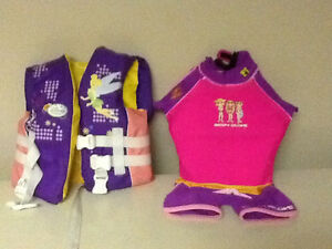 Childs life jacket and body suit