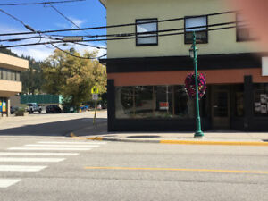 Storefront space available in Lumby BC