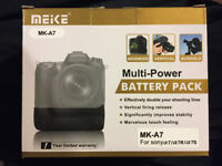 Meike MK-A7 Vertical Battery Grip Pack for Sony A7 A7r A7s