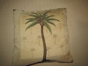 2  Palm Tree Cushions / Pillows