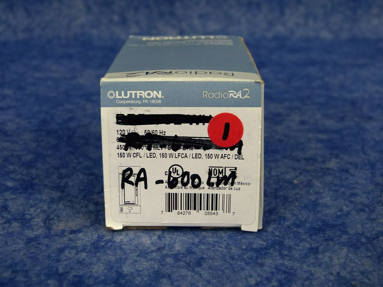Lutron RA-600LM-WH Multi-Location Dimmer Switch Radio RA / White (#1)
