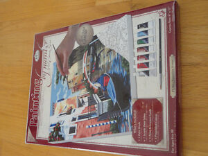 NEW paint by Numbers canvas acrylic paints mixing tray brush Set London Ontario image 4