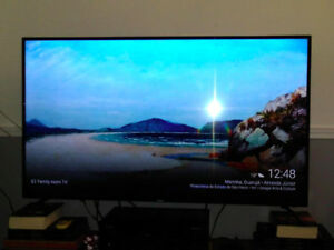 "55"" Haier LED LCD 4K UHD TV comes with remote and box Bought on"