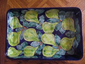 BEAUTIFUL COLORFUL, LARGE SERVING DISH
