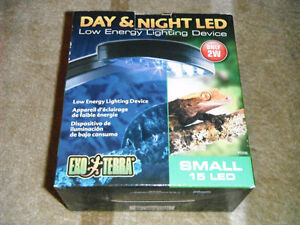 NEW Exo Terra Day & Night 15 LED Fixture (Small) 2W Low Energie
