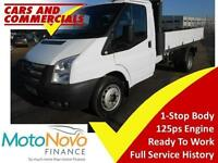 2013 63 FORD TRANSIT TIPPER 350 MWB 1-WAY 125PS (1-STOP BODY) DIESEL
