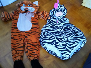 0 to 6 month infant halloween zebra costume