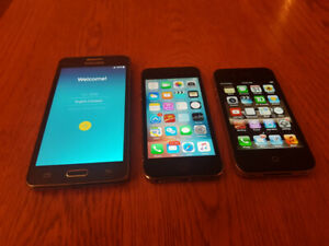 Samsung Galaxy Grand Prime, iPhone 5s and iPhone 4s. For sale.