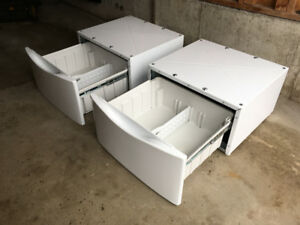 Pair of Washing Machine & Dryer Pedestals for Whirlpool Duet