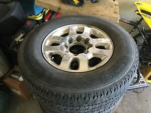Gmc or chevy 2500 8 bolt rims and tires