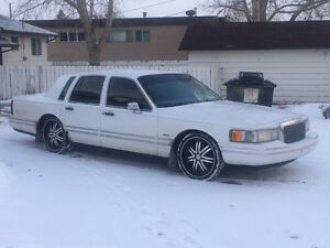 1993 Lincoln Town Car White Other