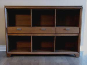 Baronet bookcase and tall cabinet