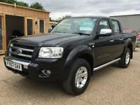2007 (07) FORD RANGER THUNDER 2.5 TDCI DOUBLE CAB PICK UP TRUCK BLACK LEATHER