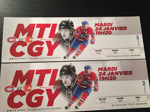 Billets canadiens Montreal Tickets vs Flames Calgary 24 jan