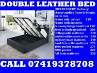 Kingsize and Doublea leather Base also Mattess/ Bedding
