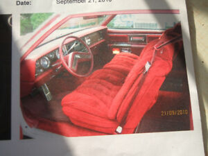 Buick Electra Park Avenue, 1978. White 'coupe', red interior.
