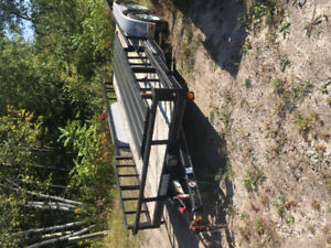 16' flat bed trailer, tandem axle
