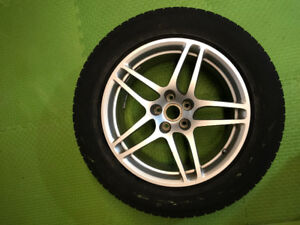 Pirelli Winter Tires on Rims for Porche Macan