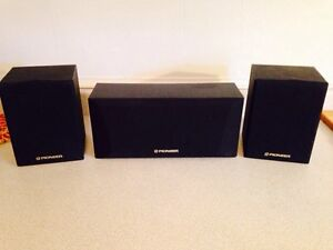 Pioneer S-CR300-K 75 Watt Center & 2 CX-X500Q 40 Watt Speakers