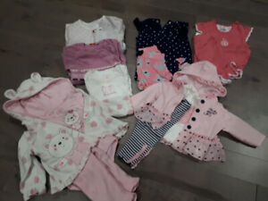 lot vêtements fille 3-6 mois