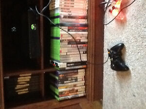 Xbox 360 with Kinect 2 controllers and 30 games