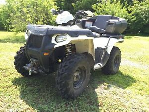 13 polaris with warranty and plow