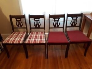 4 Harp Back Chairs (dining chairs)