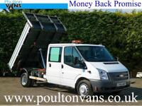 2014(14) FORD TRANSIT T460 DRW 3 SEAT CREW CAB DOUBLE CAB 9'9 HEAVY DUTY TIPPER