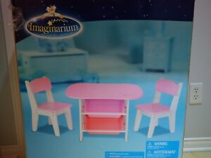 Imaginarium - Table et 2 chaises - Rose