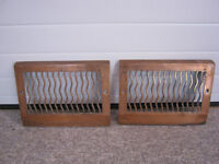 Vintage wall heat grates - solid iron