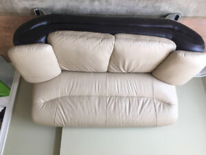 Leather couch set - 1 year old! Mint condition!
