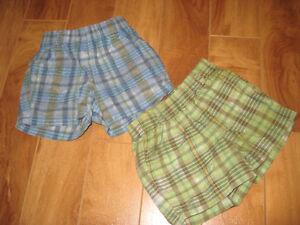 2 shorts pour bébé garçon de grandeur 3-6 mois