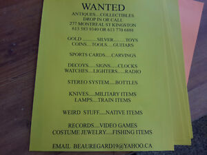 WANTED FOR CASH ANYTHING & EVERYTHING  SEE OUR LIST