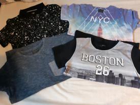 Bundle of 4 x boys t-shirts, age 8-9 years