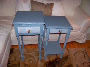 Two Wedgewood Distressed Side Tables ( price is for both )