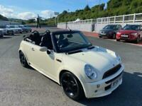 2006 06 MINI CONVERTIBLE 1.6 COOPER in White with Black Roof & leather, A/C