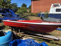 Project speedboat and trailer