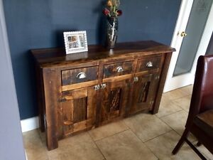 Reclaimed Custom Barnboard Live Edge Tables Cabinets Doors