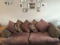 3 piece brown sofa