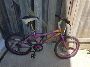 Purple kids Bike